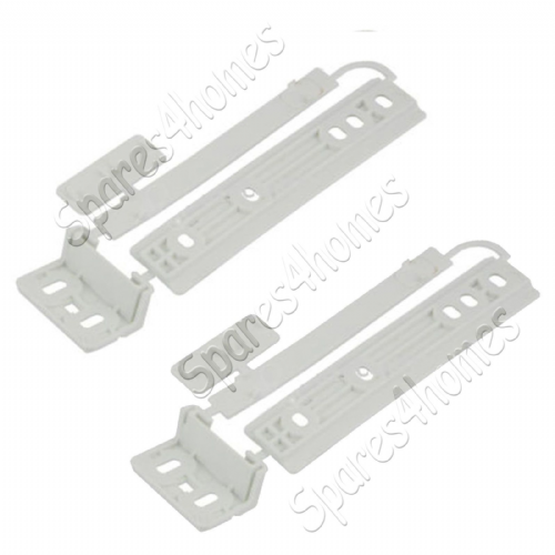 2 X Genuine AEG Electrolux Fridge Freezer Door Mounting Bracket Fixing Kit Slide